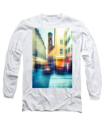 Frauenkirche - Munich V - Vintage Long Sleeve T-Shirt