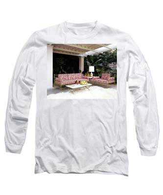 Garden-guest Room At The Chimneys Long Sleeve T-Shirt
