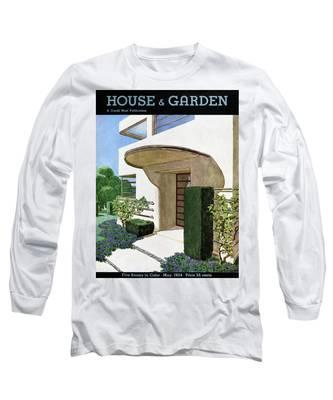 House & Garden Cover Illustration Of A Modern Long Sleeve T-Shirt