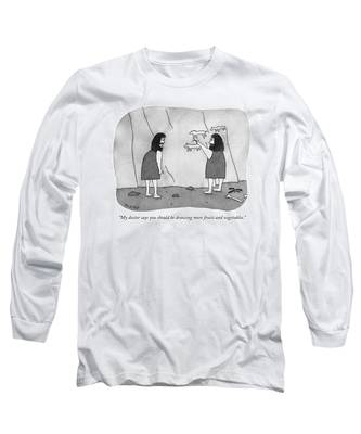 My Doctor Says You Should Be Drawing More Fruits Long Sleeve T-Shirt