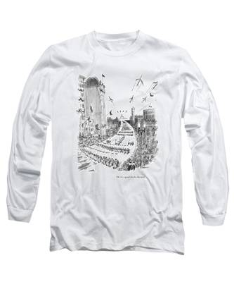Oh, It's A Grand Day For Harvard! Long Sleeve T-Shirt