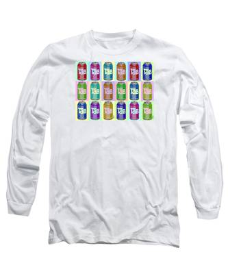 Tab Ode To Andy Warhol Repeat Horizontal Long Sleeve T-Shirt