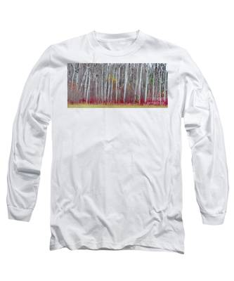 The Birches Panorama  Long Sleeve T-Shirt