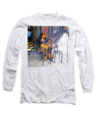 The Brasserie In Paris Long Sleeve T-Shirt