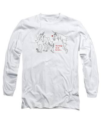 Unicorn Valentines Card Long Sleeve T-Shirt