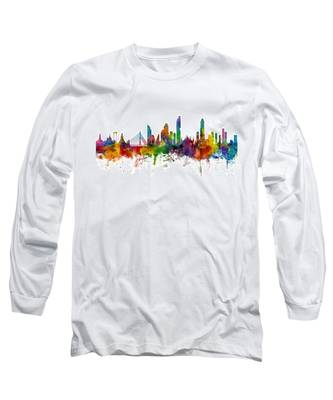 Bangkok Thailand Skyline Long Sleeve T-Shirt