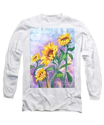 Sunny Sunflowers Long Sleeve T-Shirt