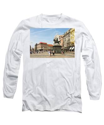Ban Jelacic Square In Zagreb Long Sleeve T-Shirt by Didier Marti