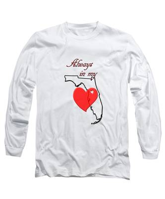 Always In My Heart Fl Long Sleeve T-Shirt