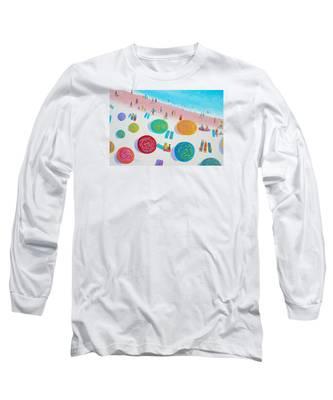 Beach Painting - A Walk In The Sun Long Sleeve T-Shirt