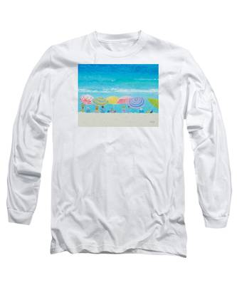 Beach Painting - Color Of Summer Long Sleeve T-Shirt