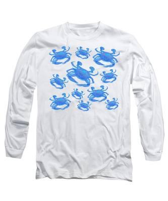 Blue Crabs Long Sleeve T-Shirt
