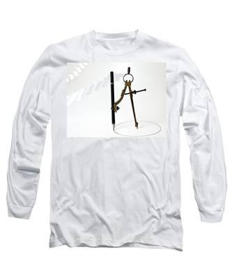 Brass Compass And Pencil Long Sleeve T-Shirt