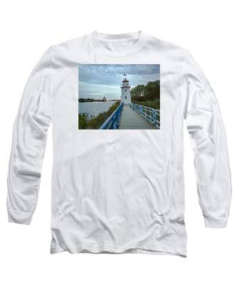 Cheboygan Crib Lighthouse Lake Huron, Lower Peninsula Mi Long Sleeve T-Shirt