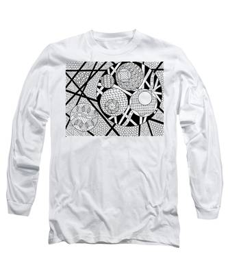 Long Sleeve T-Shirt featuring the drawing Circles In Circles by Vicki Winchester