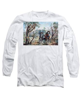Clydesdales And Cart Long Sleeve T-Shirt