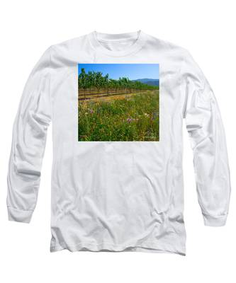 Country Wildflowers V Long Sleeve T-Shirt