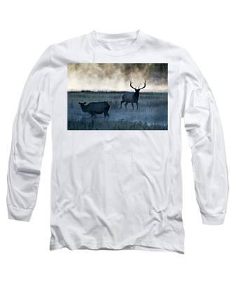 Elk In The Mist Long Sleeve T-Shirt