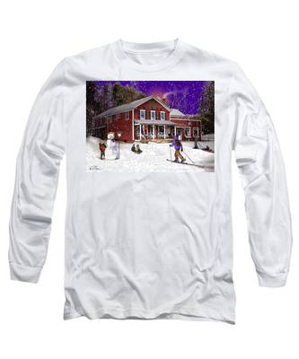 First Snow At The South Woodstock Country Store Long Sleeve T-Shirt