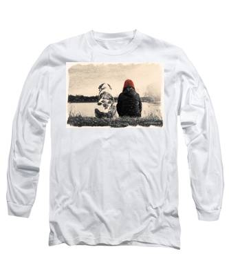 Just Sitting In The Morning Sun Long Sleeve T-Shirt