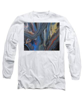 Long Sleeve T-Shirt featuring the painting Metal Melt by Vicki Winchester