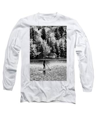 Paddleboarding On Old Forge Pond Long Sleeve T-Shirt