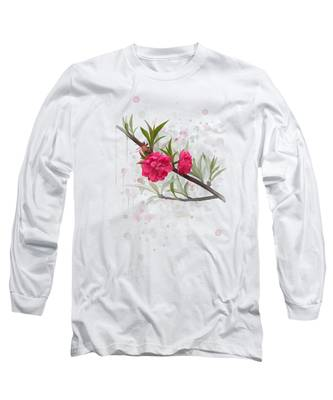 Hot Pink Blossom Long Sleeve T-Shirt