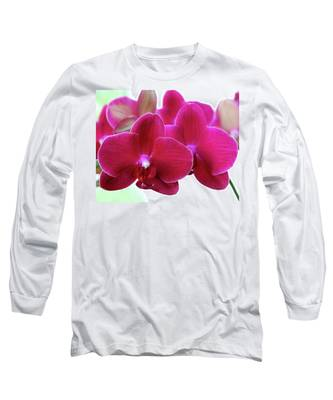Red Orchid Long Sleeve T-Shirt