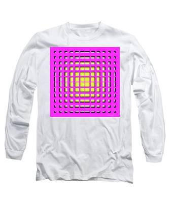 Pink Polynomial Long Sleeve T-Shirt