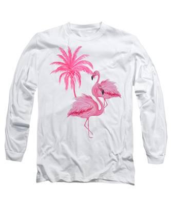 Pretty Flamingos Long Sleeve T-Shirt