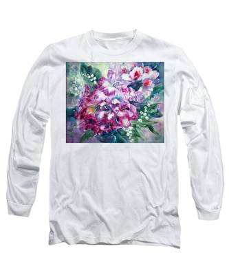 Rhododendron And Lily Of The Valley Long Sleeve T-Shirt