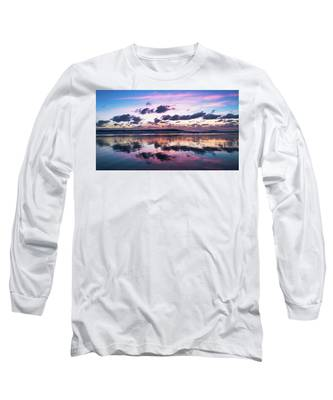 Sunrise Pink Wisps Delray Beach Florida Long Sleeve T-Shirt