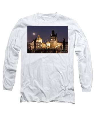 The Nights Of Prague Long Sleeve T-Shirt by Didier Marti