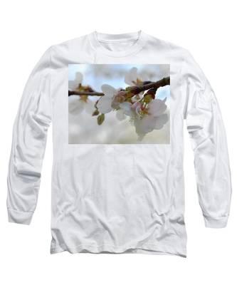 Dogwood Branch Pink Long Sleeve T-Shirt