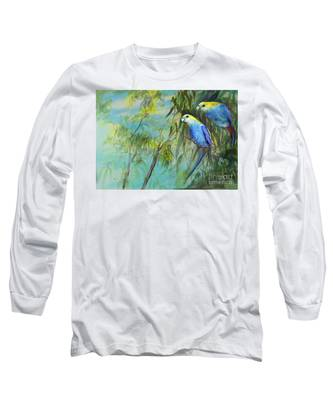 Two Pale-faced Rosellas Long Sleeve T-Shirt