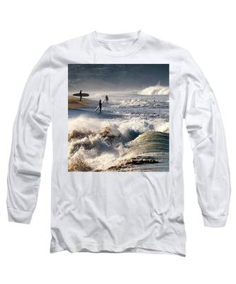 Waiting By Mike-hope Long Sleeve T-Shirt