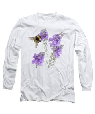 Watercolor Bumble Bee Long Sleeve T-Shirt