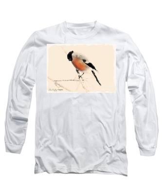 Winter Bullfinch Long Sleeve T-Shirt