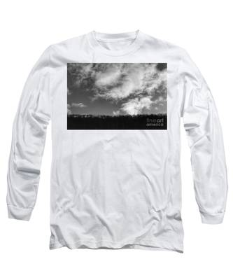 Winter Clouds Over The Delaware River Long Sleeve T-Shirt