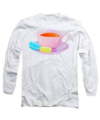 Tea And Macaroons Long Sleeve T-Shirt