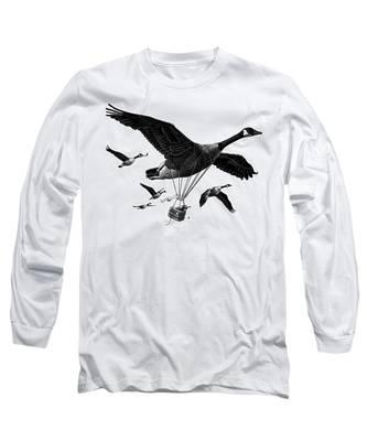 Aero Canada - Bw Long Sleeve T-Shirt