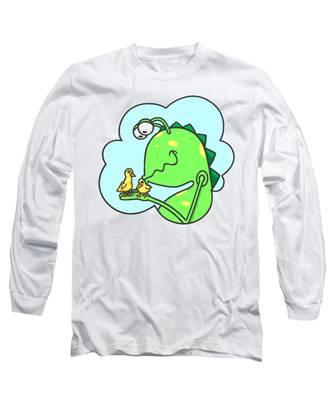 Monster Kissing Ducklings Long Sleeve T-Shirt