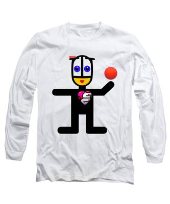 Cat With A Ball Long Sleeve T-Shirt
