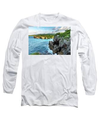 Cliffside Views Portland Jamaica Long Sleeve T-Shirt