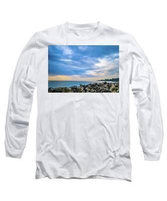 Cloudy City Coastline Long Sleeve T-Shirt
