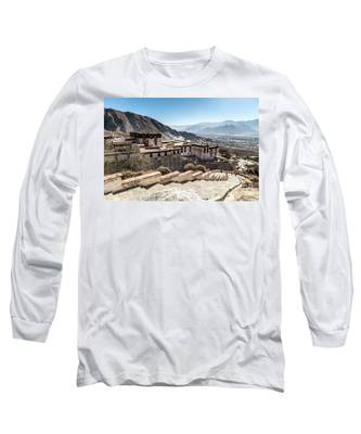 Drepung Monastery In Lhasa, Tibet Autonomous Region Of China Long Sleeve T-Shirt by Didier Marti