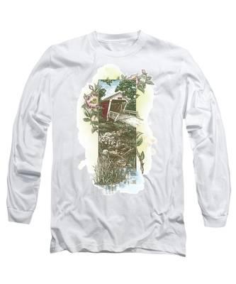 Iowa Covered Bridge Long Sleeve T-Shirt