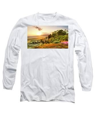 Orange Haze At Sunset Long Sleeve T-Shirt