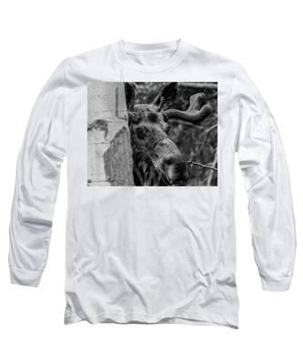 Peek-a-moose Long Sleeve T-Shirt