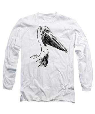 Pelican On Waves Long Sleeve T-Shirt